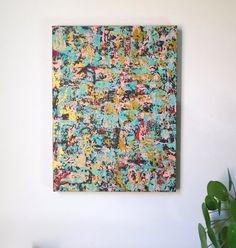 Rich Vibrant Original Abstract Painting. 'Clip-on by AbstractBunny