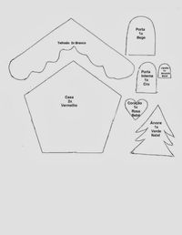 Gata Bacana: Christmas Cottage template with step by step video