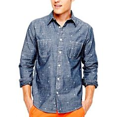 Arizona Printed Woven Shirt - jcpenney