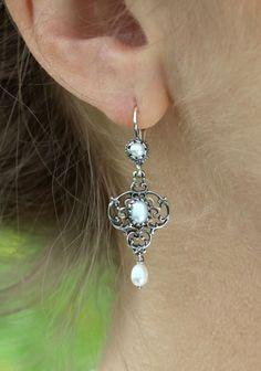 Shops, Drop Earrings, Jewelry, Style, Fashion, Pearls, Earrings, Silver, Nature