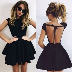 Buy online Women's Babe Cute Backless Dress from zefinka.com! Women, Men and Kids Outfit Ideas on our website at 7ootd.com #ootd #7ootd
