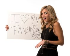 Sarah Darling was among the artists who sent a shout-out to her fans from USA TODAY's studio.