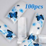 100 Spring Butterfly Style Acrylic False French Nail Tips: 100 different sizes approximately for each size (size 1 ~ Glitter Tip Nails, Beauty Products Gifts, Acrylic Nail Tips, Nail Room, Rainbow Butterfly, Pink Acrylics, Professional Nails, Nail Art Hacks, Fabulous Nails