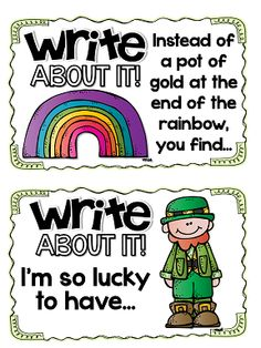 write about it St. Paddy's Day prompts
