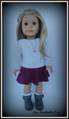 Skater Skirt Tutorial – American Girl Dolls | Sew Adollable