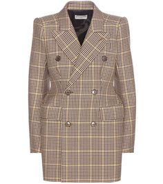 mytheresa.com - Houndstooth wool blazer - Luxury Fashion for Women / Designer clothing, shoes, bags
