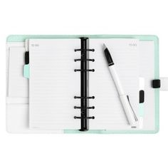 LEATHER PERSONAL PLANNER MEDIUM: PAUSE
