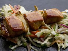 With a sweet and sticky Japanese glaze, these chicken kebabs make a light and fresh meal