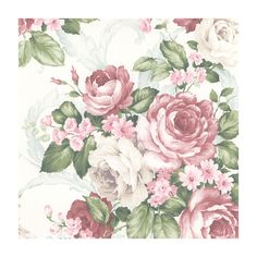 """You'll love the Grand Chateau 32.7' x 20.5"""" Grand Floral Wallpaper at Wayfair - Great Deals on all Décor  products with Free Shipping on most stuff, even the big stuff."""