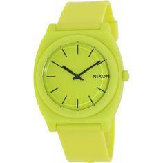 Nixon Men's Time Teller A1191262-00 Yellow Rubber Quartz Watch with Yellow Dial
