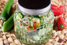 Icebox Pickles Icebox Pickles, Nutrition Data, Refrigerator Pickles, Cucumber Recipes, Pickling Cucumbers, Sweet Pickles, Green Bell Peppers, Canning Recipes, Pickles Recipe
