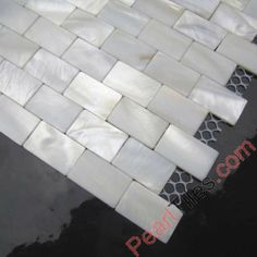 Natural White Brick Shell Tile Mother Of Pearl Mosaic Tiles
