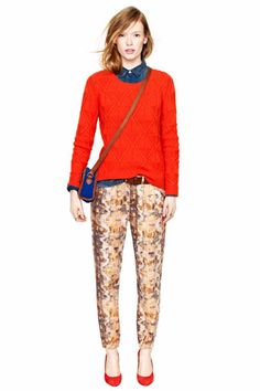 Nothing's Perfect...But The Madewell Fall Looks Come Pretty Close. Madewell F/W 2012. Denim shirt, knit sweater, patterned pants.