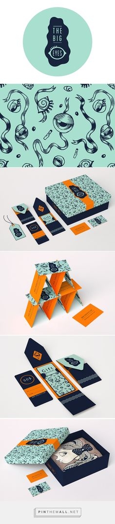 in love with the color choice. THEBIGEYES on Behance by lo Anto curated by Packaging Diva PD. Branding and packaging design THEBIGEYES handmade shop specialized in creating beautiful and unique pieces of handmade items. Web Design, Logo Design, Brand Identity Design, Graphic Design Branding, Logo Branding, Typography Design, Layout Design, Print Design, Corporate Design