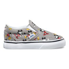 Vans Disney Mickey Mouse Classic Toddlers Slip-On Shoes Multi In Sizes Cute Baby Shoes, Baby Boy Shoes, Boys Shoes, Baby Boy Outfits, Disney Vans, Disney Shoes, Disney Mickey, Disneyland Outfits, Disney Outfits