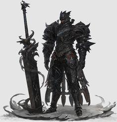 ArtStation - black Knight, Sanha Kim