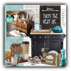 A home decor collage from August 2015 featuring Home Decorators Collection, honeycomb shades and vintage kitchen accessories. Interior Decorating, Interior Design, Pottery Barn, Kate Spade, Interiors, Polyvore, Inspiration, Kitchen Ideas, Collection