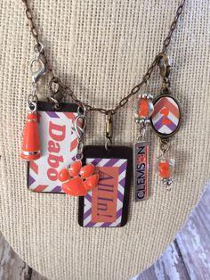 Custom Collegiate Team Spirit Necklace on Etsy, $60.00