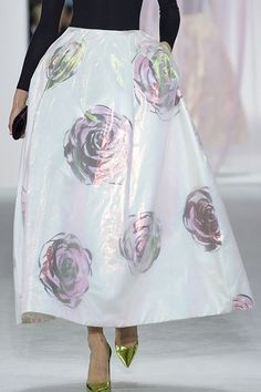 And other photos on web,  Christian Dior Spring 2013 RTW Iridescent Rose-Print Skirt Photograph