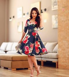 Elegant Dresses, Cute Dresses, Vintage Dresses, Beautiful Dresses, Short Dresses, Summer Dresses, Floral Fashion, Modest Fashion, Fashion Outfits