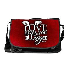 Truly Teague Laptop Notebook Messenger Bag Love Gives You Wings electronic gifts for women Electronic Gifts, Notebook Laptop, Gifts For Women, Messenger Bag, Wings, Love, Accessories, Amor, Feathers