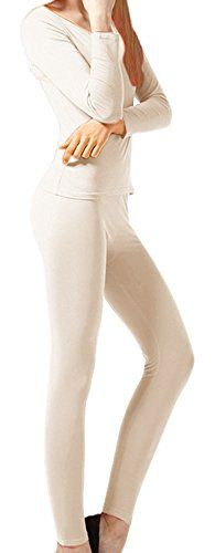 Peach Couture Womens Microfleece Ultimate Warmth Comfort Fit Thermal 2 Piece Set (Beige XL). Brand New Winter Collection By Peach Couture (Peach Couture is a Registered Trademark). Peach Couture just released ultra-soft stretchy microfleece thermals which feature ultimate warmth this winter without the annoying bulky layers. No need to sacrifice motion or movement due to uncomfortable thick clothing when you wear our winter thermals. They are ideal for layering under clothing for extra…