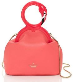 Kate Spade Strut Your Stuff Kissing Flamingos Clutch Bag is m