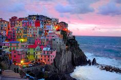 Colorful homes in Italy.