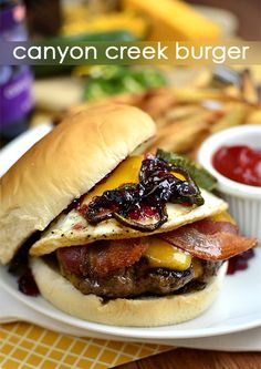 Inspired by Ted's Montana Grill in Denver, CO, the Canyon Creek Burger is savory, sweet, and spicy. Totally decadent.  | iowagirleats.com
