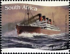 Stamp: Windsor Castle (South Africa) (Ships of the Union Castle Line) Mi:ZA Union Of South Africa, Windsor Castle, Vintage Stamps, Tall Ships, World History, Sailing Ships, Art Photography, Ocean, Boats