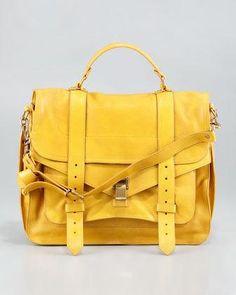 Proenza Schouler  handbag  purse  clutch large  satchel in mustard Proenza  Schouler 2660fc4422453