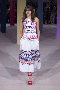 Temperley London  summer'17 Look 24 |  Spellbound Peplum Dress, White Mix