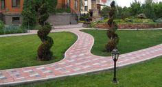 тротуарная плитка устройство придомовой дорожки