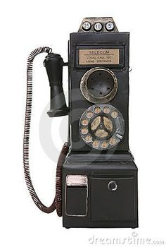 Old Vintage Pay Phone. An old vintage pay phone isolated over white , Telephone Retro, Retro Phone, Telephone Booth, Backgrounds Wallpapers, Antique Phone, Techno, Vintage Phones, Old Phone, Landline Phone