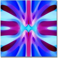 Trademark Fine Art Tree Light Symmetry Blue and Purple Canvas Wall Art by Amy Vangsgard, Size: 18 x 18, Multicolor