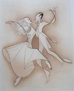 Al Hirschfeld FRED AND GINGER