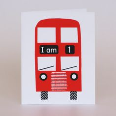 """£2.50 Lisa Jones Studio """"I am"""" cards. All cards from the Hand-Printed range are 225gsm, 9 x 11.5cm and silk-screened using water-based inks.    100% recycled card.    Supplied blank inside with a white FSC envelope, this style features coloured stickers too!"""
