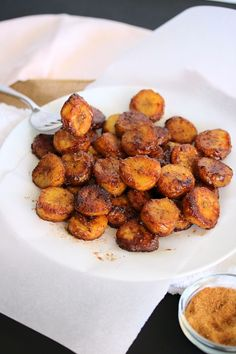 Just Jessie B: Caramelized Cinnamon Sugar Plantains Beef Recipes For Dinner, Lunch Recipes, Paleo Recipes, Alkaline Recipes, Summer Recipes, Easy Fruit Dip, Plantain Recipes, Cinnamon Recipes, Paleo Dessert
