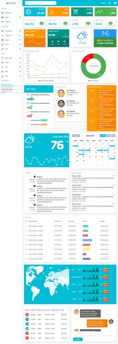27 best business dashboard images on pinterest dashboard design 40 best html5 dashboard templates and admin panels 2017 friedricerecipe Image collections