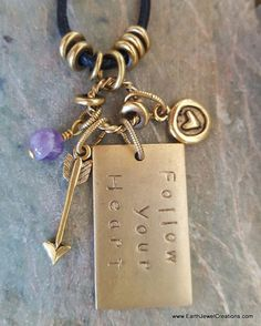 Handmade with love in Noosa Australia. Words Of Affirmation, Amethyst Pendant, Inspiration Quotes, Pendants, Crystal, Vegan, Gemstones, Jewellery, Personalized Items