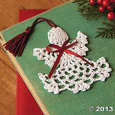 Crocheted Angel Bookmarks