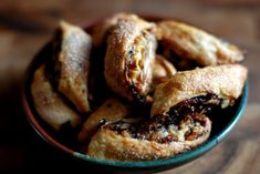 fantastic first stab at making rugelach using this easy, streamlined method. Jewish Recipes, Gourmet Recipes, Cookie Recipes, Non Dairy Cream Cheese, Baking Pans, Recipe Collection, Raisin, Soul Food, A Food