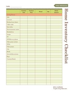 Free Household Notebook with 36 Printables: Home Inventory List   You know you should have one! Here's a free printable to help you get started.