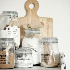 Perk up mason jars with these decal labels.