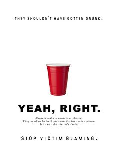 Stop Victim Blaming campaign poster series.