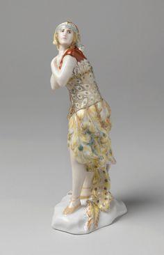 "Figurine, ""The Firebird"", 1920 Designed by Dmitry Iosifovich (Ivanovich) Ivanov Manufactured by Lomonosov Porcelain Factory"