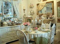 ew! decor reminds me of like a flowery little girls tea party..but I definitely love the furniture !