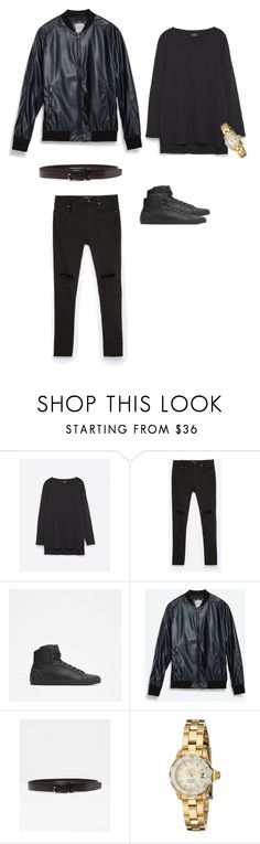 """""""Zara boi"""" by emmanuel-mogbo ❤ liked on Polyvore featuring Zara, Invicta, women's clothing, women's fashion, women, female, woman, misses and juniors"""