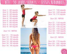 A partir de juin objectif 30 jours de squat pour des fesses rebondies !