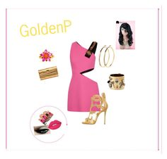 """""""Golden Pink"""" by constance-dangerfield on Polyvore featuring FAUSTO PUGLISI, Giuseppe Zanotti, Pieces, Alexis Bittar, Alexandra Alberta and Lime Crime"""